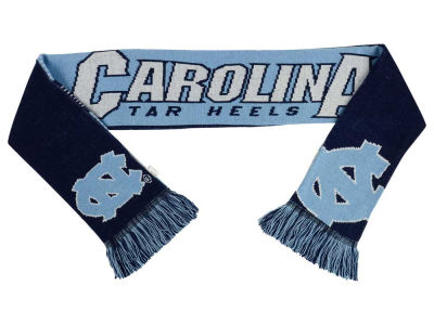 North Carolina Tar Heels Acrylic Knit Scarf Reversible Split Logo