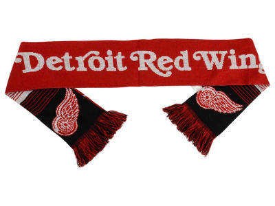Detroit Red Wings Acrylic Knit Scarf Reversible Split Logo