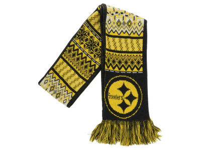 Pittsburgh Steelers Ugly Sweater Acrylic Reversible Scarf