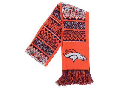 Denver Broncos Ugly Sweater Acrylic Reversible Scarf