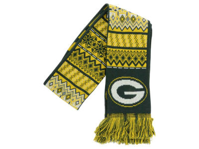 Green Bay Packers Ugly Sweater Acrylic Reversible Scarf