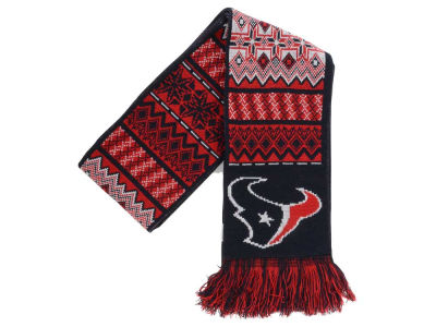 Houston Texans Ugly Sweater Acrylic Reversible Scarf
