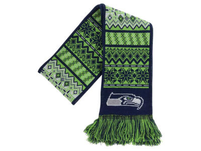 Seattle Seahawks Ugly Sweater Acrylic Reversible Scarf