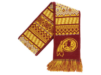 Washington Redskins Ugly Sweater Acrylic Reversible Scarf