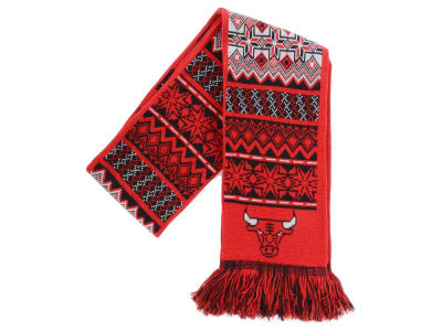 Chicago Bulls Ugly Sweater Acrylic Reversible Scarf