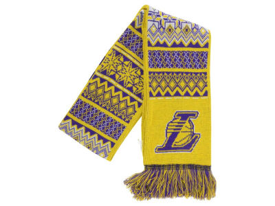 Los Angeles Lakers Ugly Sweater Acrylic Reversible Scarf