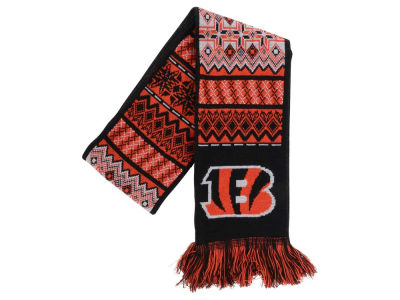 Cincinnati Bengals Ugly Sweater Acrylic Reversible Scarf