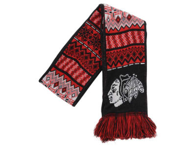 Chicago Blackhawks Ugly Sweater Acrylic Reversible Scarf