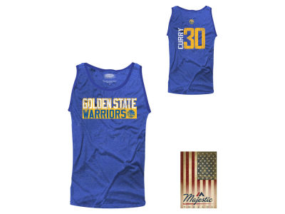 Golden State Warriors Stephen Curry NBA Men's Vertical Name and Number Tank
