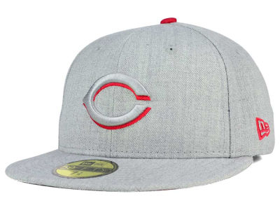 Cincinnati Reds New Era MLB Heather League Basic 59FIFTY Cap