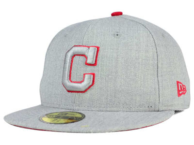 Cleveland Indians New Era MLB Heather League Basic 59FIFTY Cap