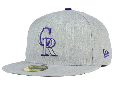 Colorado Rockies New Era MLB Heather League Basic 59FIFTY Cap