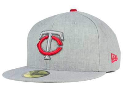 Minnesota Twins New Era MLB Heather League Basic 59FIFTY Cap