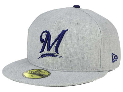 Milwaukee Brewers New Era MLB Heather League Basic 59FIFTY Cap