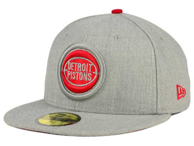 Detroit Pistons New Era NBA HWC Heather League Basic 59FIFTY Cap