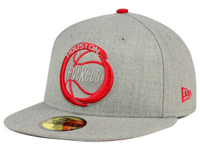 Houston Rockets New Era NBA HWC Heather League Basic 59FIFTY Cap
