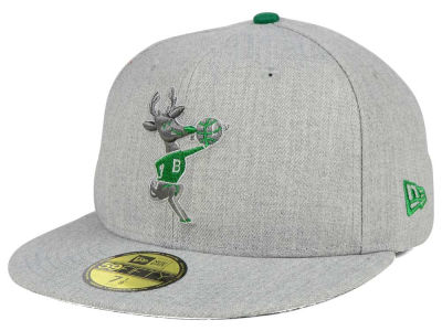 Milwaukee Bucks New Era NBA HWC Heather League Basic 59FIFTY Cap
