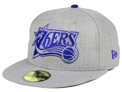 Philadelphia 76ers New Era NBA HWC Heather League Basic 59FIFTY Cap