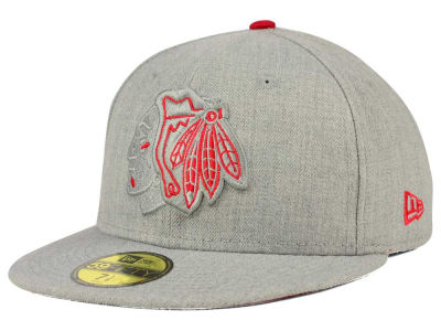 Chicago Blackhawks New Era NHL Heather League Basic 59FIFTY Cap