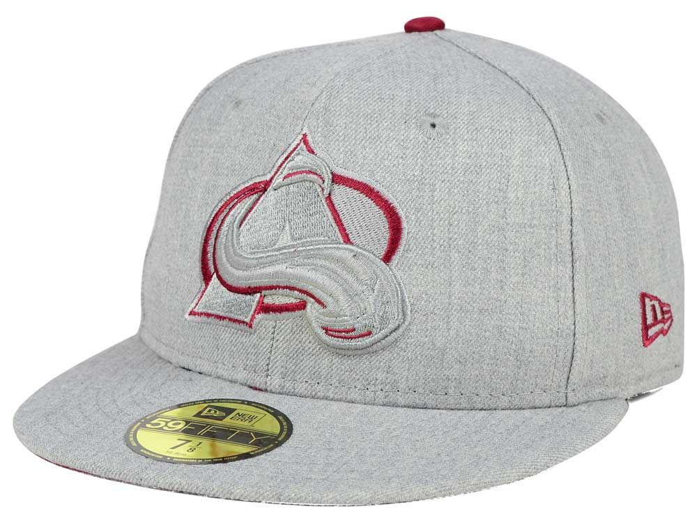 f67c35496fa Colorado Avalanche New Era NHL Heather League Basic 59FIFTY Cap ...