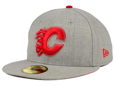 Calgary Flames New Era NHL Heather League Basic 59FIFTY Cap