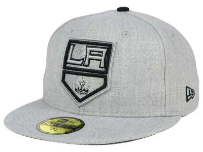 Los Angeles Kings New Era NHL Heather League Basic 59FIFTY Cap