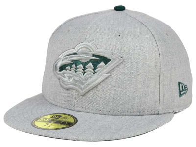 Minnesota Wild New Era NHL Heather League Basic 59FIFTY Cap