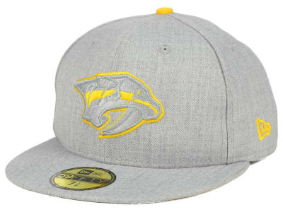 Nashville Predators New Era NHL Heather League Basic 59FIFTY Cap