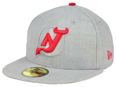New Jersey Devils New Era NHL Heather League Basic 59FIFTY Cap