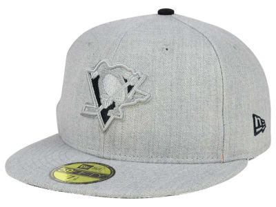Pittsburgh Penguins New Era NHL Heather League Basic 59FIFTY Cap