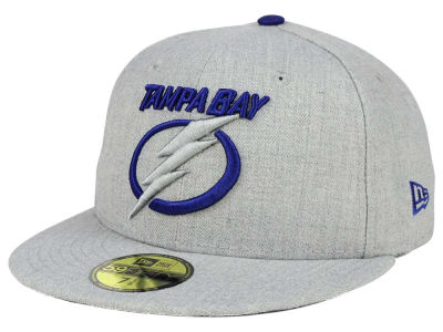 Tampa Bay Lightning New Era NHL Heather League Basic 59FIFTY Cap