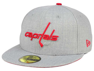 Washington Capitals New Era NHL Heather League Basic 59FIFTY Cap
