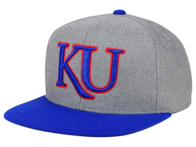 Kansas Jayhawks adidas NCAA Stacked Box Snapback Cap