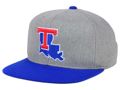 Louisiana Tech Bulldogs adidas NCAA Stacked Box Snapback Cap