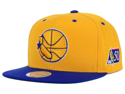Golden State Warriors Mitchell and Ness NBA 50th Snapback Cap