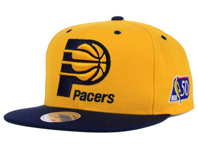 Indiana Pacers Mitchell and Ness NBA 50th Snapback Cap