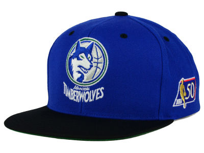 Minnesota Timberwolves Mitchell and Ness NBA 50th Snapback Cap