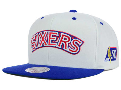 Philadelphia 76ers Mitchell and Ness NBA 50th Snapback Cap