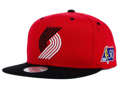 Portland Trail Blazers Mitchell and Ness NBA 50th Snapback Cap