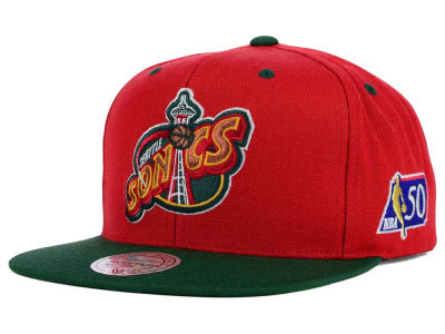 Seattle SuperSonics Mitchell and Ness NBA 50th Snapback Cap