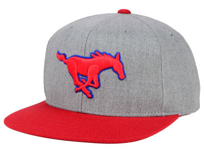 Southern Methodist Mustangs adidas NCAA Stacked Box Snapback Cap