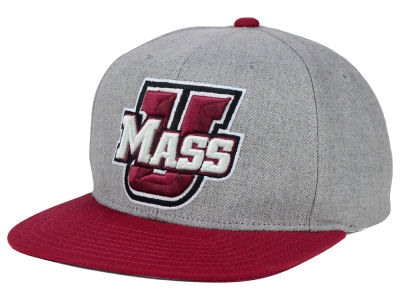 Massachusetts Minutemen adidas NCAA Stacked Box Snapback Cap