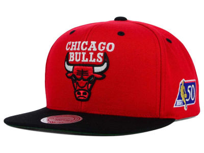 Chicago Bulls Mitchell and Ness NBA 50th Snapback Cap