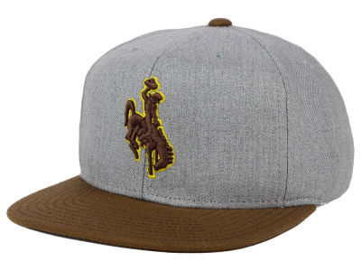 Wyoming Cowboys adidas NCAA Stacked Box Snapback Cap