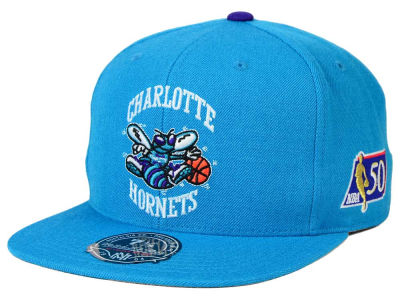 Charlotte Hornets Mitchell and Ness NBA 50th High Crown Fitted Cap