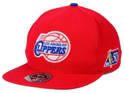 Los Angeles Clippers Mitchell and Ness NBA 50th High Crown Fitted Cap