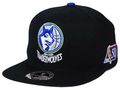 Minnesota Timberwolves Mitchell and Ness NBA 50th High Crown Fitted Cap