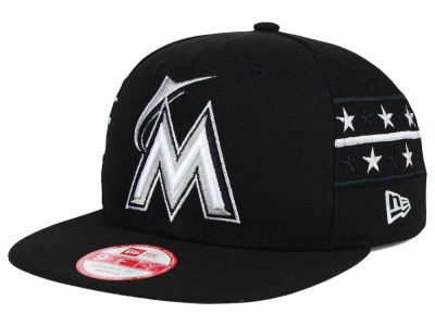 Miami Marlins New Era MLB Fine Side 9FIFTY Snapback Cap