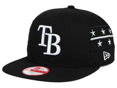 Tampa Bay Rays New Era MLB Fine Side 9FIFTY Snapback Cap
