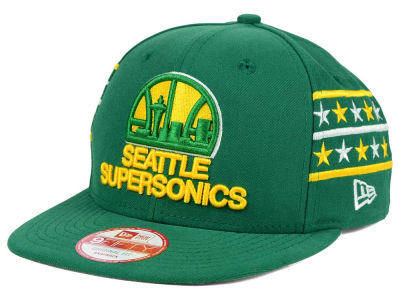 Seattle SuperSonics New Era NBA HWC Fine Side 9FIFTY Snapback Cap